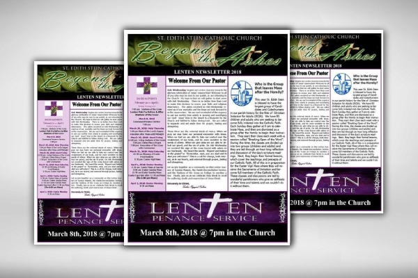 lenten catholic church newsletter