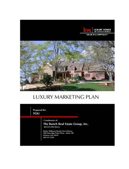 luxury real estate marketing plan