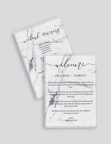 marble wedding agenda