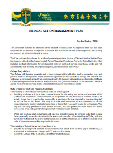medical action management plan
