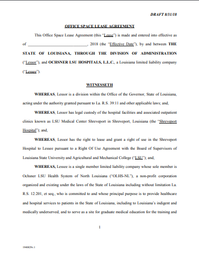 5 Medical Office Lease Agreement Examples Templates