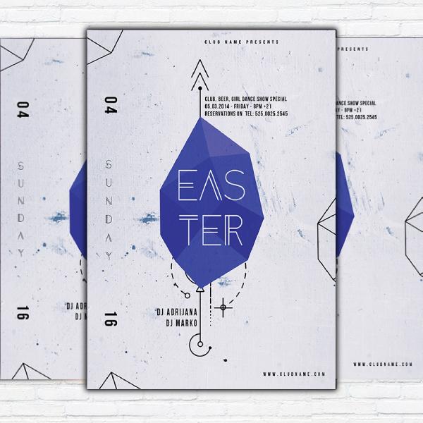 modern easter poster
