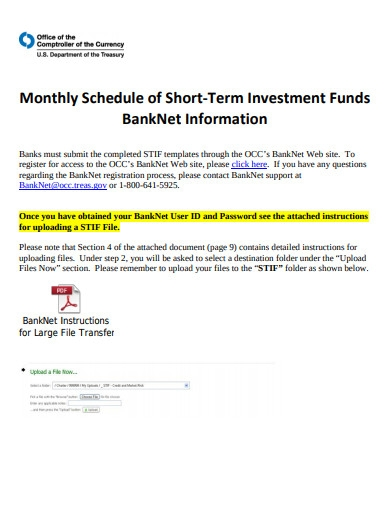 monthly schedule short term investing