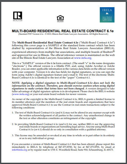 multi board residential real estate contract