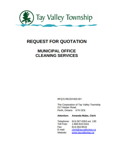municipal office cleaning services quotation