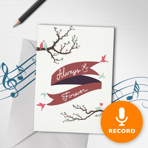 musical wedding greeting card