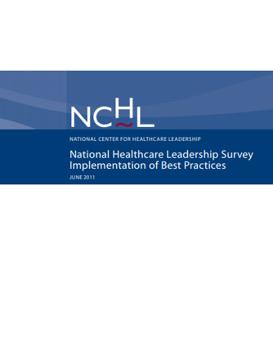 national healthcare leadership survey