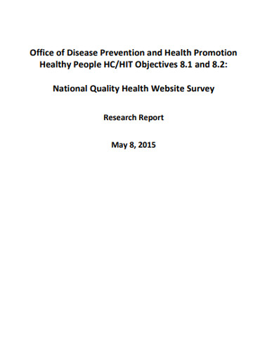 national quality health website survey