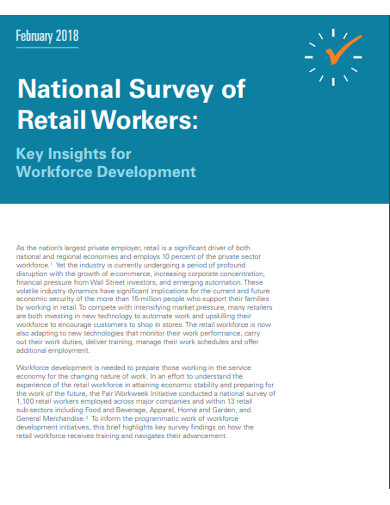 national survey of retail workers