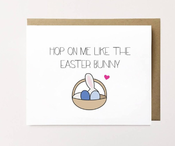 naughty easter card for husband
