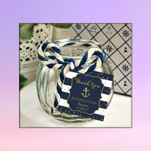nautical baptism favor tag