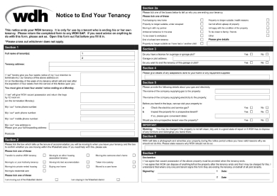 notice to end tenancy