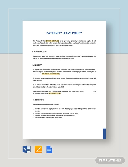 paternity leave policy template1