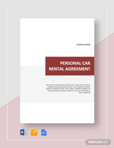 personal car rental agreement1