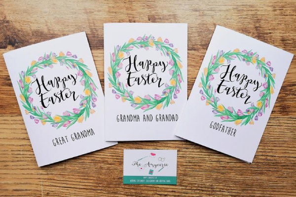 personalized easter greeting card