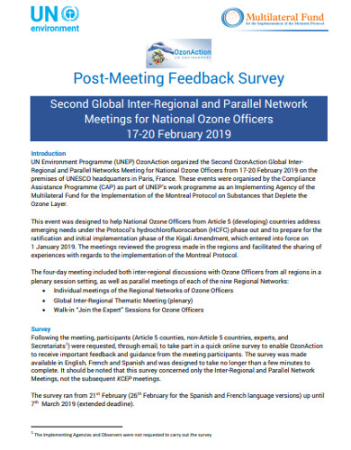 post meeting feedback survey