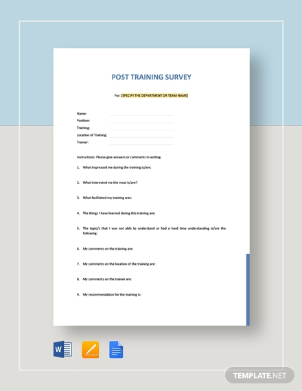post training survey template1