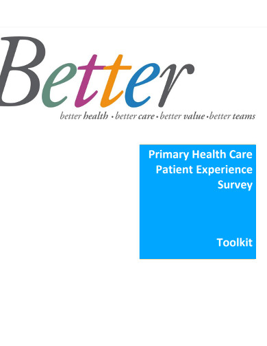 primary health care patient experience survey