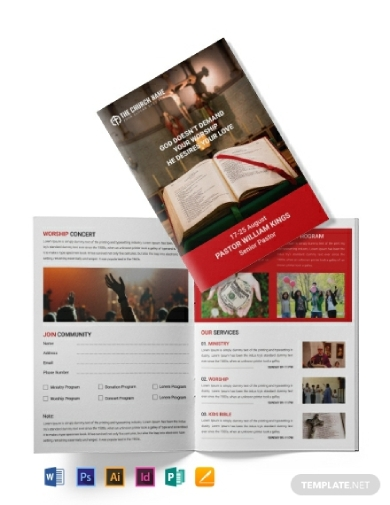 printable church brochure