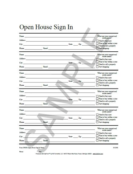 graphic about Real Estate Open House Sign in Sheet Printable referred to as 10+ True Estate Open up Household Indication Inside of Sheet Illustrations