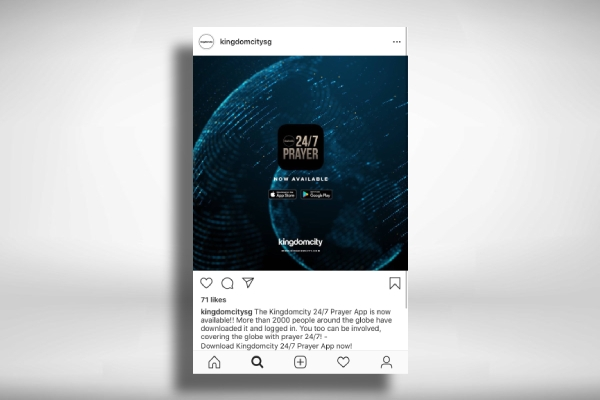 promotion church instagram post