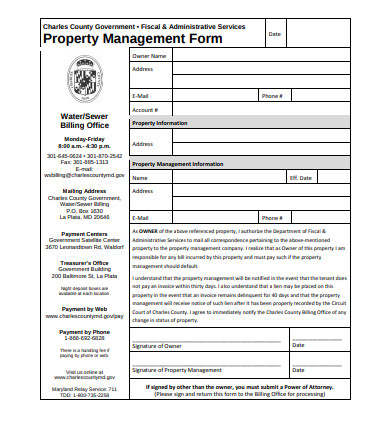 property management form