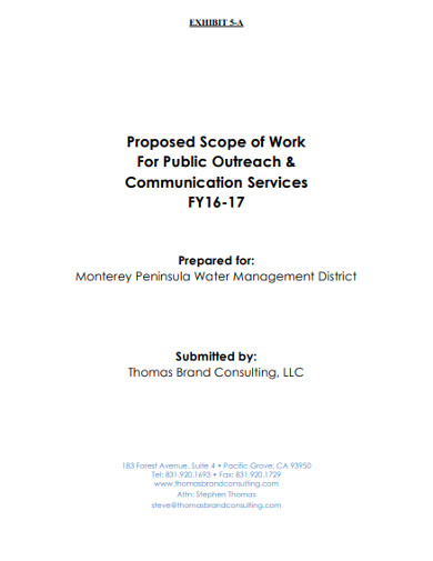 proposed scope of work