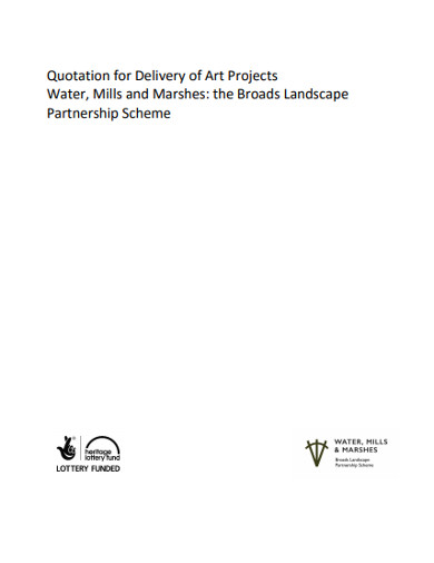 quotation for delivery of art projects