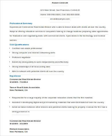 15 Best Real Estate Resume Examples Amp Templates Download