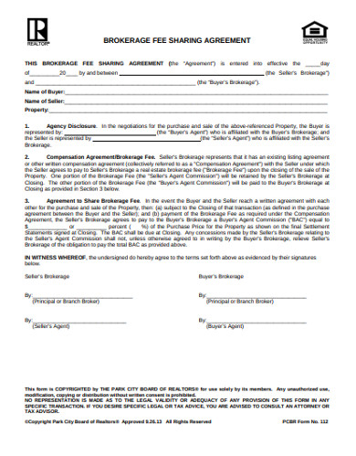 10 Real Estate Brokerage Agreement Examples Templates