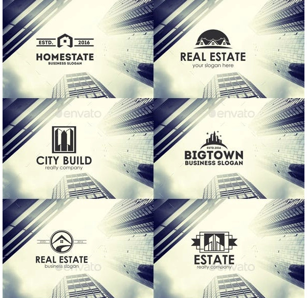 real estate business logo badges sample
