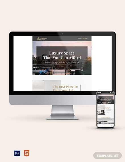 real estate home for sale newsletter template