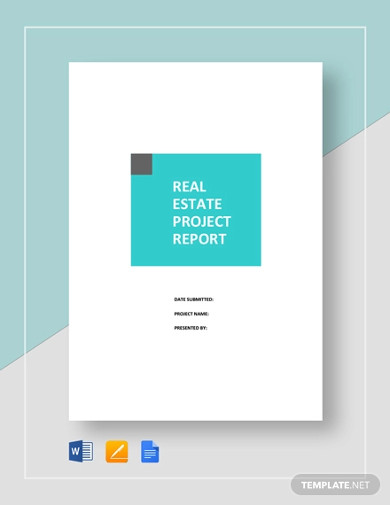 real estate project report template