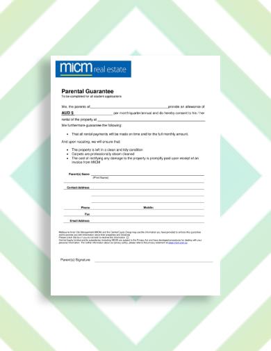 real estate rental guarantor letter