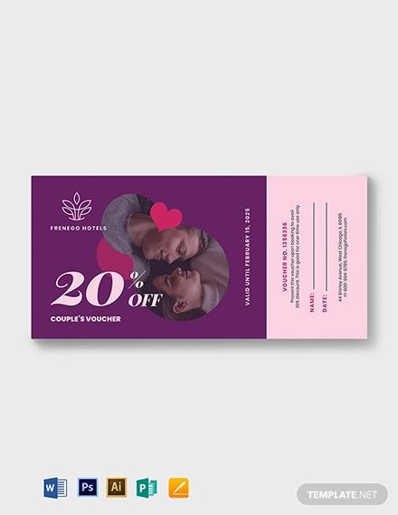 relationship romantic love voucher template