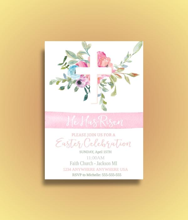 religious easter celebration invitation1