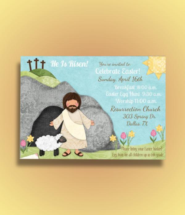 religious easter egg hunt invitation