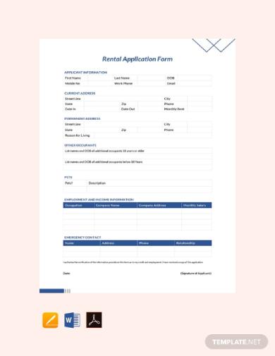 rental application form1