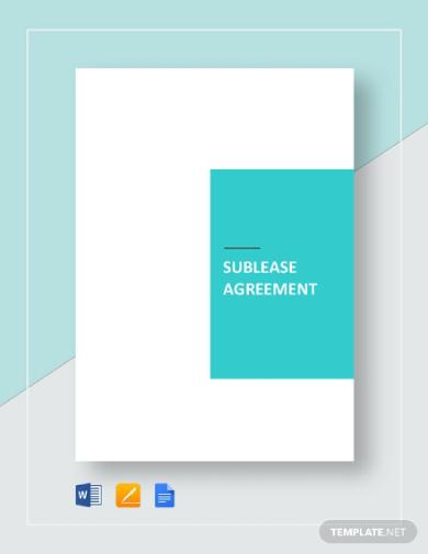 rental sublease agreement