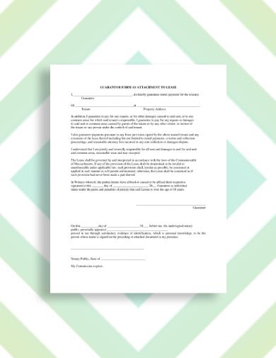 rental and repair guarantor letter