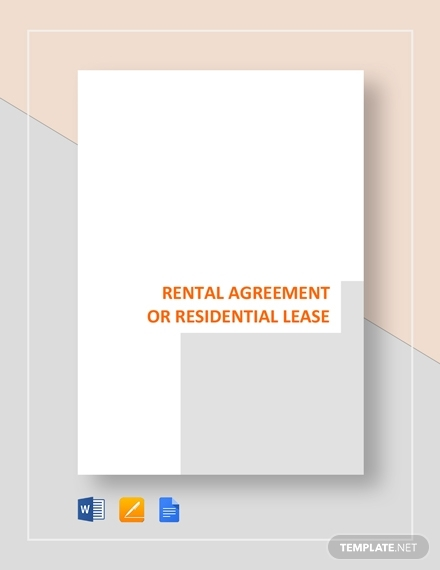 rental or residential lease agreement