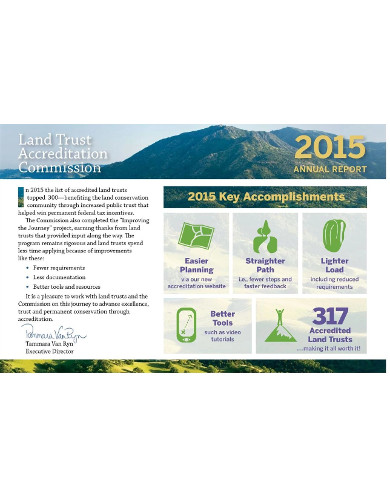 report for nonprofit land conservation