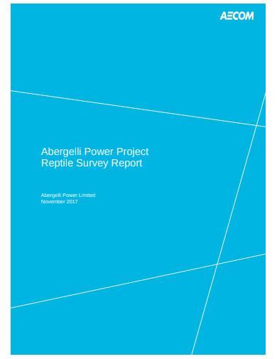 reptile survey report
