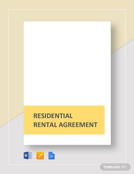 residential rental agreement1