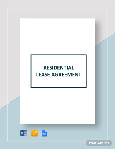 residential tenant lease agreement