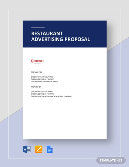 restaurant advertising proposal template