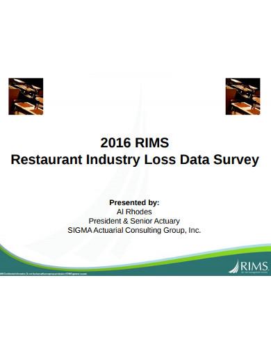 restaurant industry loss data survey