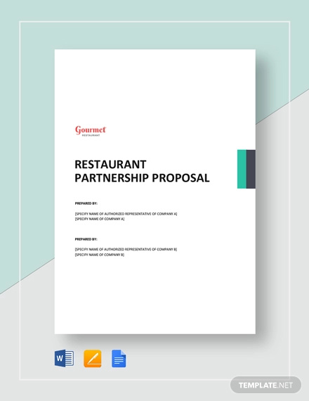 restaurant partnership proposal template1