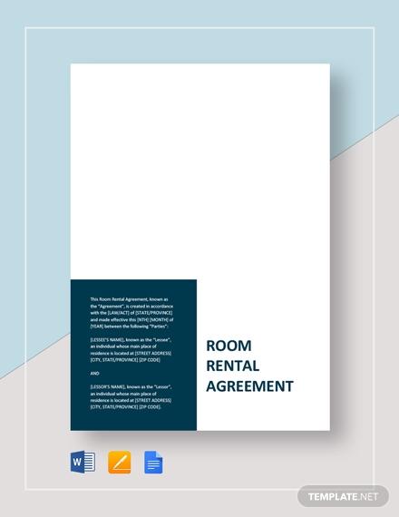 room rental agreement1