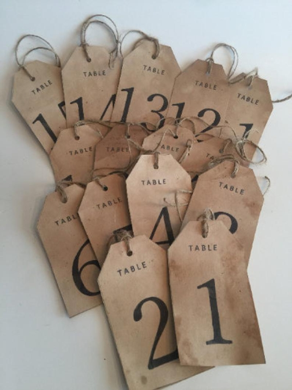 rustic wedding tag
